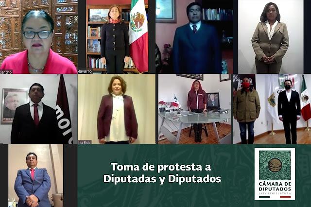 La diputada Dulce María Sauri Riancho tomó protesta constitucional a ocho diputadas y diputados