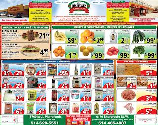 Akhavan Supermarche Flyer April 19 - 25, 2018