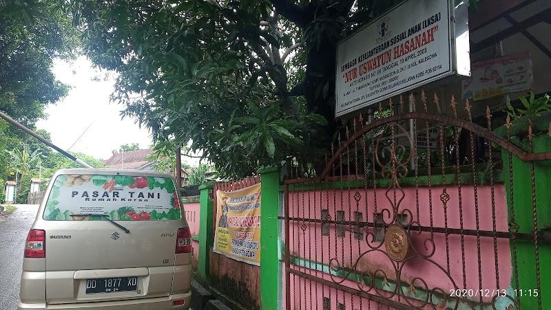 Rumah Koran dan Brimob Polda Sulsel Sedekah Sayur Ke Panti Asuhan Nur Uswatun Hasanah
