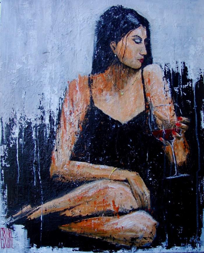 Красивые женщины, бокал вина