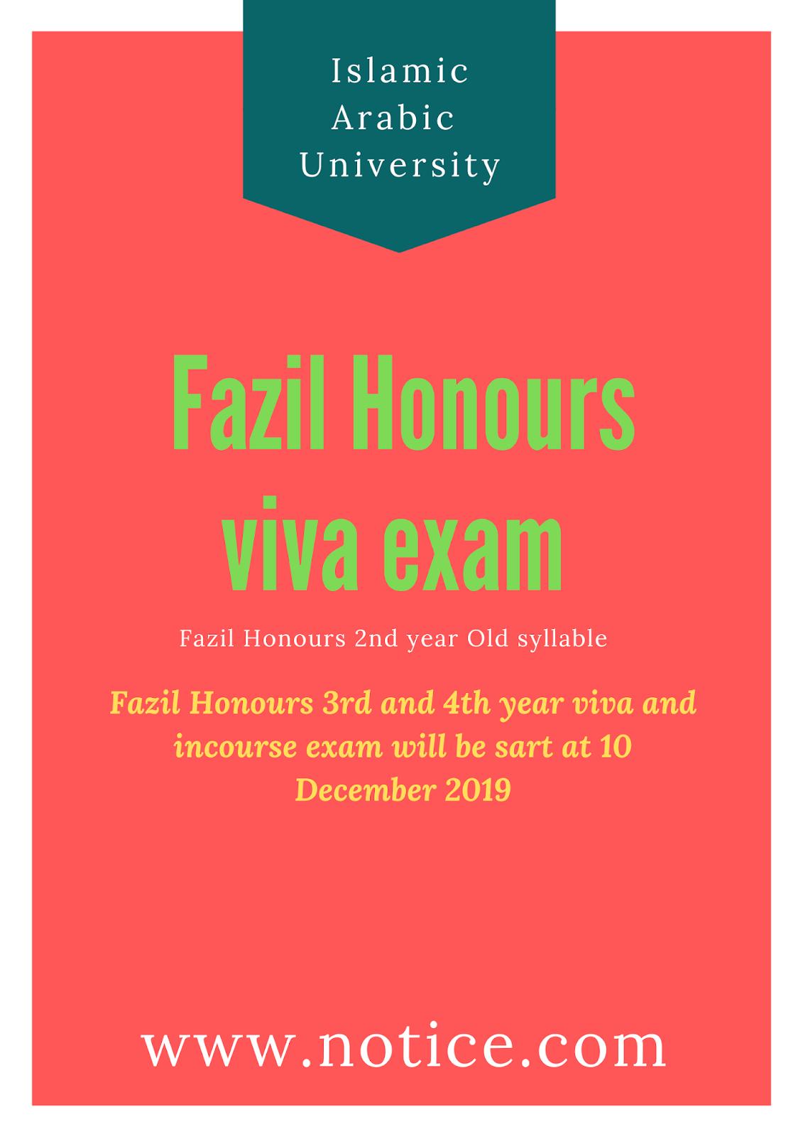 Infographic of fazil viva exam