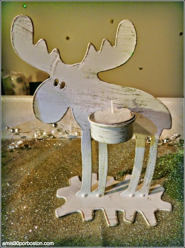 Decoración Navidad: Reno Portavelas de Finlandia