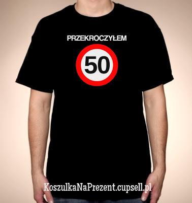 koszulka Przekroczyłem 50