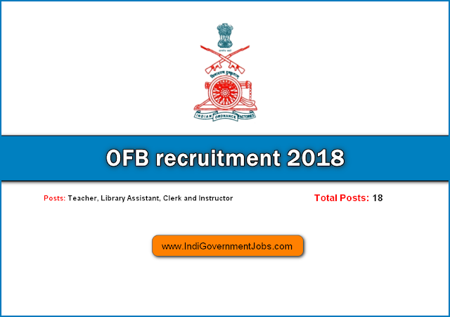 OFB recruitment 2018