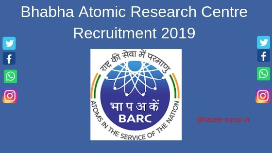 Bhabha Atomic Research Centre Recruitment 2019 Application Form