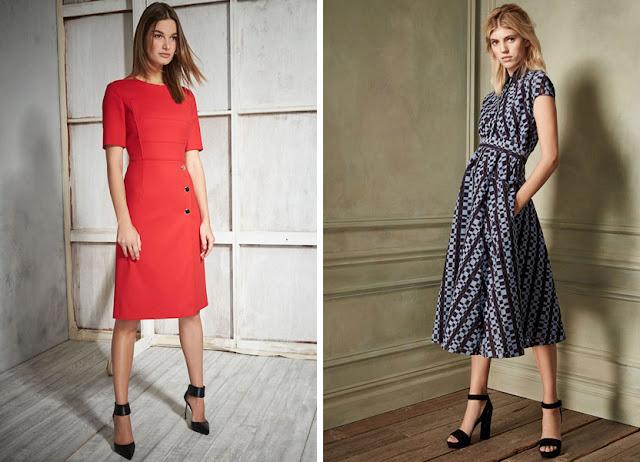 Красное платье классического кроя