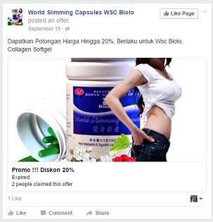 "Contoh iklan Facebook Ads. Perhatikan tulisan ""sponsored""."