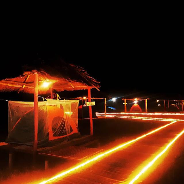 Wisata Tidur Sawah Pamah Simelir Tempat Camping Bentuk Bintang
