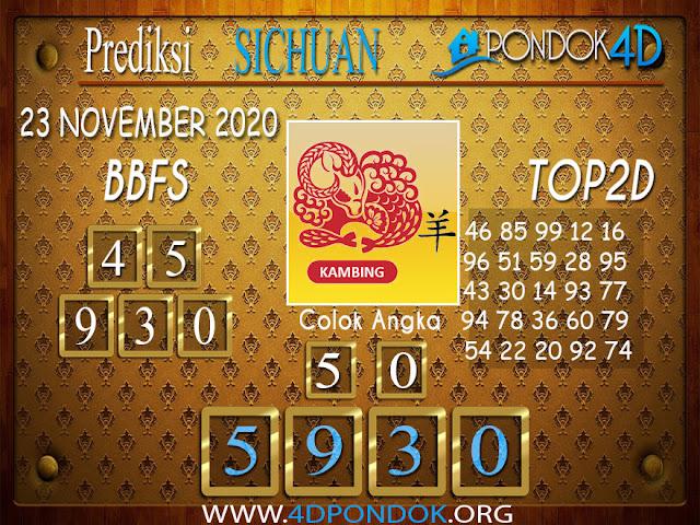 Prediksi Togel SICHUAN PONDOK4D 23 NOVEMBER 2020