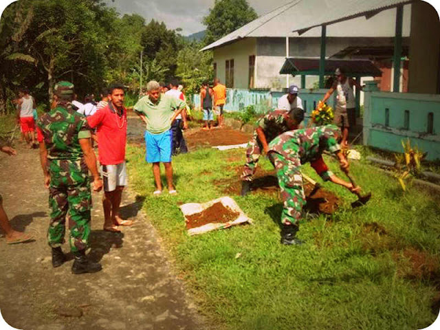 Kodim 1508 Tobelo Suksesan Lomba Desa Kabupaten Halmahera Utara