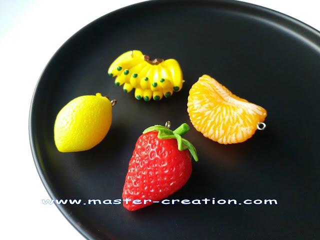mini lemon, mini banana, mini strawberry