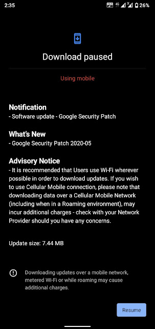 Nokia 3.2 receiving May 2020 Android Security patch