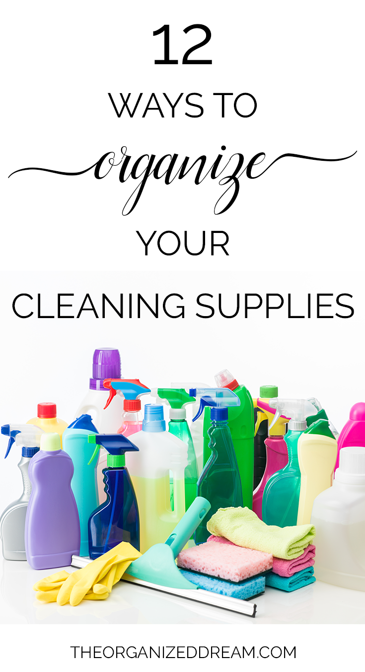 Larger version of cleaning chemicals with cloths.