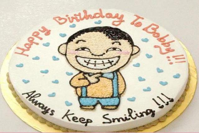 Hình ảnh chiếc bánh độc hài hước này sẽ là món quà đầy màu sắc của bạn dành cho bạn bè. Chúc sinh nhật bạn tràn ngập tiếng cười.