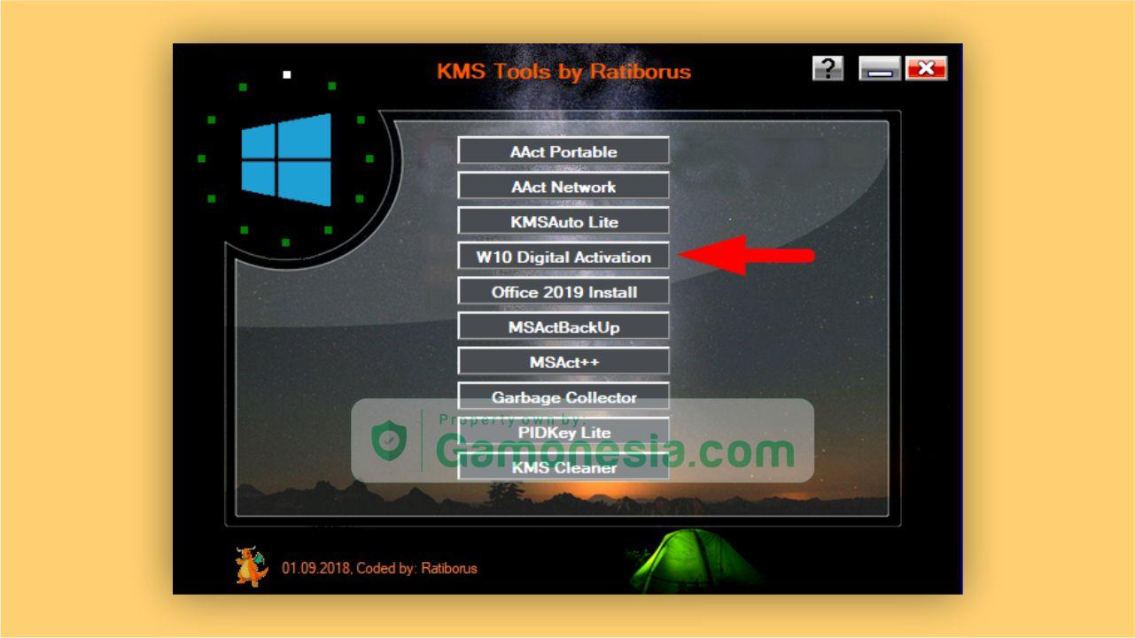 mengaktifkan windows 10 menggunakan KMS tool