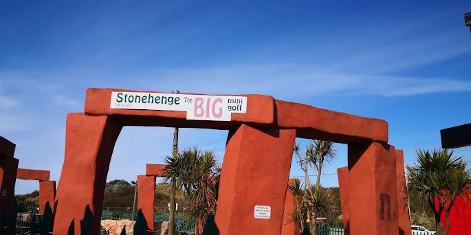 Stonehenge Big Mini Golf in Hemsby, Norfolk. Photo by Christopher Gottfried, 17th April 2021