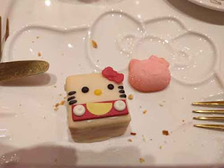 Hello Kitty Square Cake At Hello Kitty Grand Cafe.