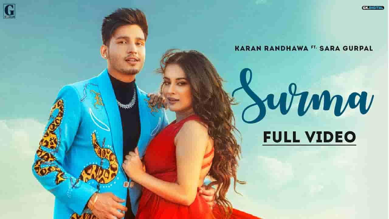 सुरमा Surma lyrics in Hindi Karan Randhawa Rambo Punjabi Song