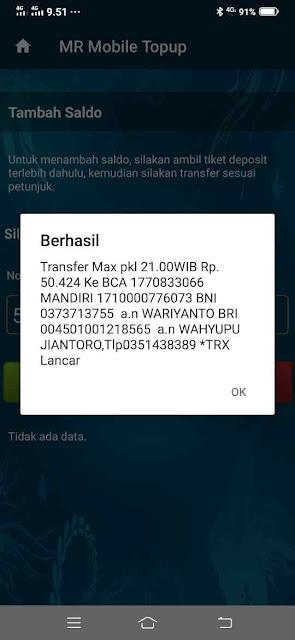 Cara Isi Saldo MR Mobile Topup,  Metro Reload Payment