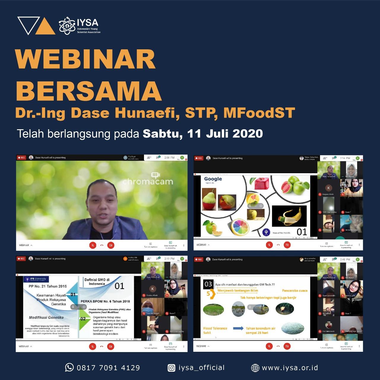 Webinar with Team Ahli IYSA