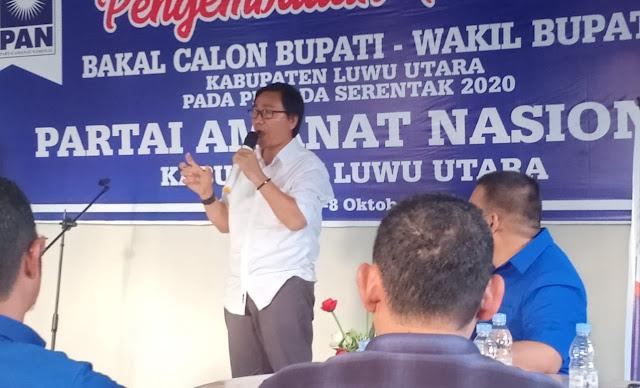 PAN Sebut Suaib Mansur Kandidat Wakil Bupati Lutra Terbaik Saat Ini