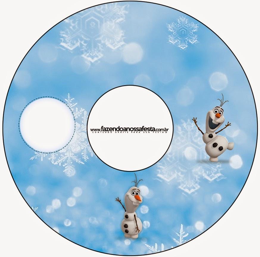 Etiqueta de Olaf para CD's para imprimir gratis.