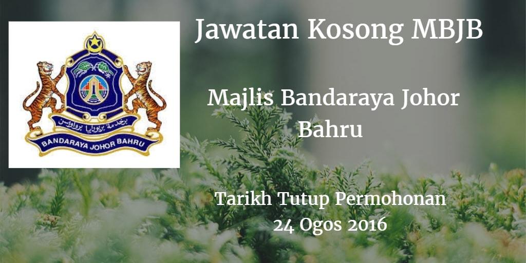 Jawatan Kosong MBJB 24 Ogos 2016