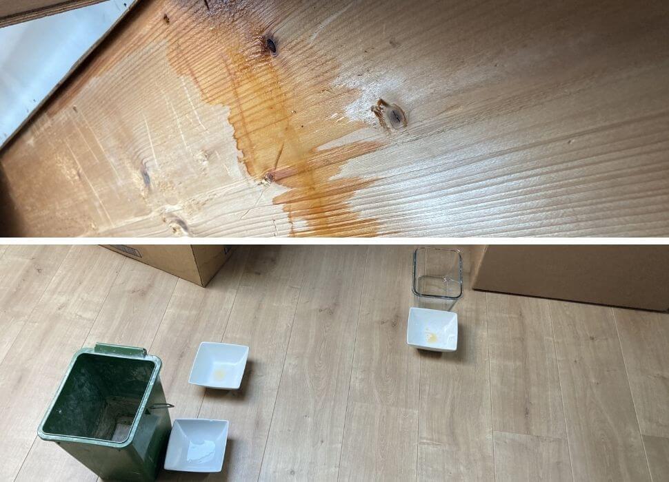 water lekkage door stuifsneeuw onder dakpan