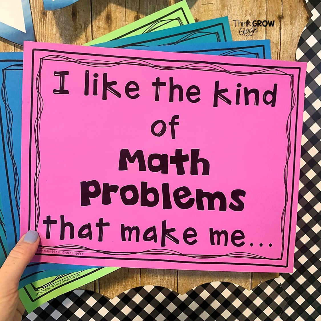 Back to School Math Activities to Get to Know Your Mathematicians - Think  Grow Giggle [ 1125 x 1125 Pixel ]