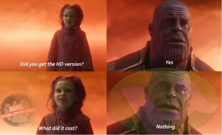 Meme thanos 45 Incredibly
