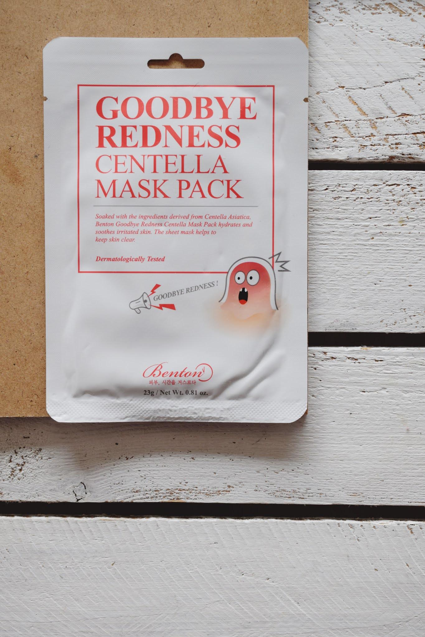 Benton, Goodbye redness centella mask pack