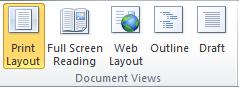 fungsi grup document view di word