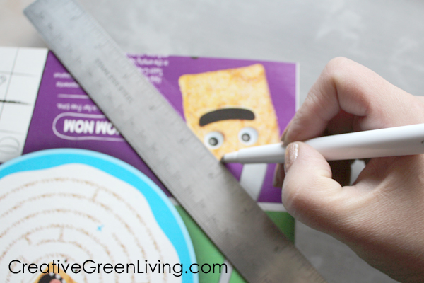 how to make an envelope from a paper board box