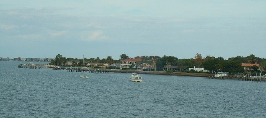 Vistas de la bahía de St Augustine