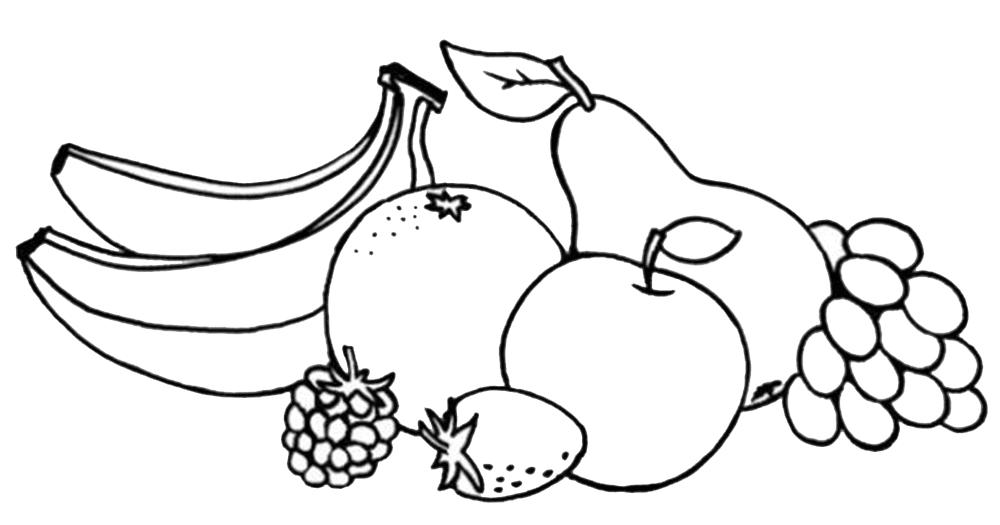 gambar mewarnai gambar buah
