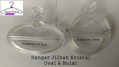 Hanger Jilbab Oval Kristal