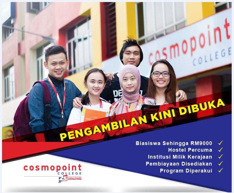 Permohonan Cosmopoint College Sabah Senarai Kursus Ditawarkan Di Cosmopoint College Kota Kinabalu Sabah