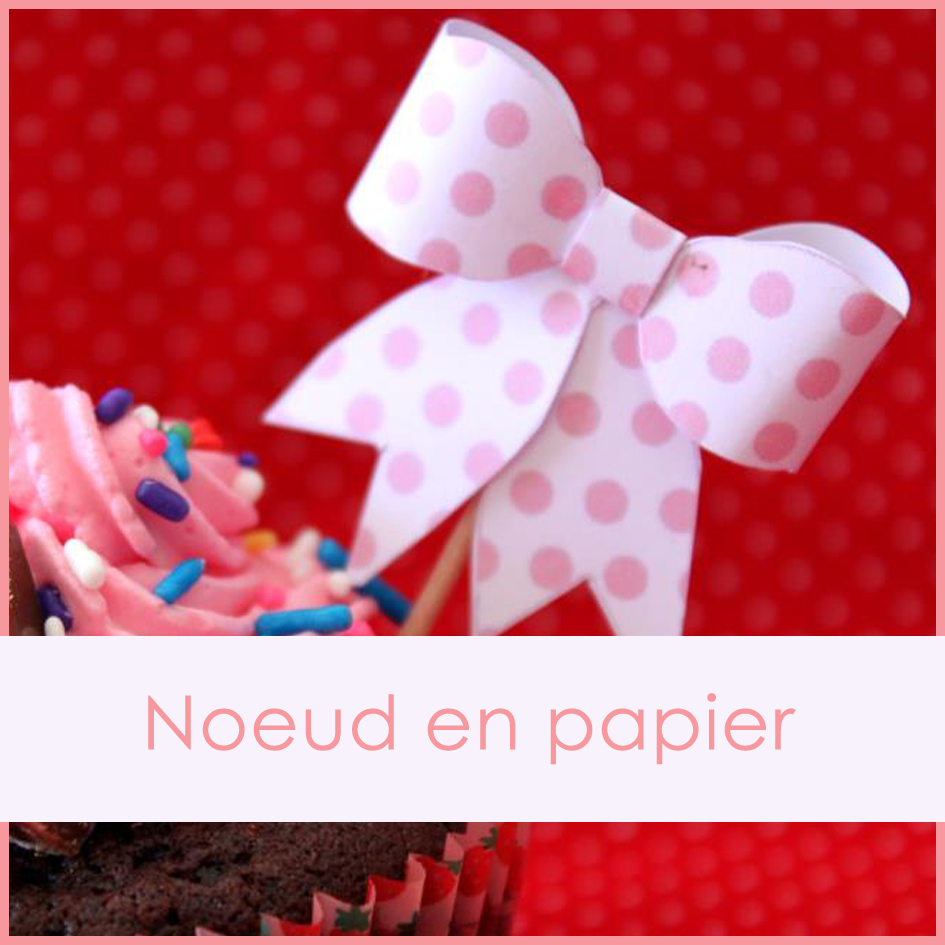 noeud cupcake toppers