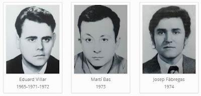 Los ajedrecistas del Club d'Escacs Mataró Eduard Villar, Martí Blas y Josep Fábregas