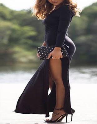 vestido negro juvenil elegante tumblr de verano