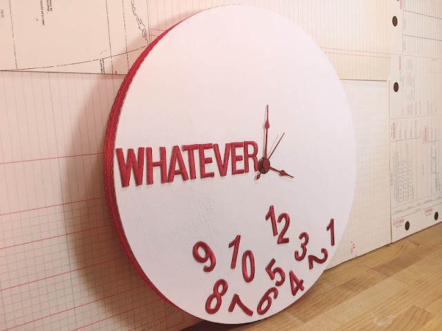 whatever clock wallhanging