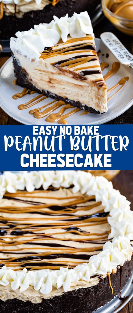 Delicious No Bake Peanut Butter Cheesecake