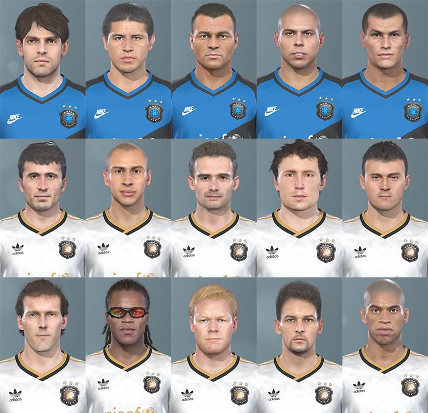 PES 2019 Classic Faces PS4 to PC Animation FIX by Hawke