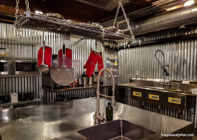 Cozinha do Nashville Downtown Hostel