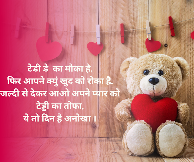 Top 10 Teddy Day Quotes, Images, Messages, Wishes in Hindi