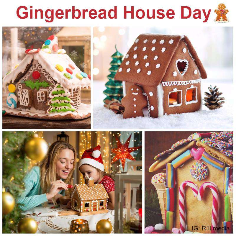 Gingerbread House Day Wishes for Whatsapp