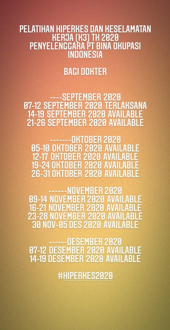 Jadwal Pelatihan Hiperkes 2020 Untuk Dokter dan Paramedis