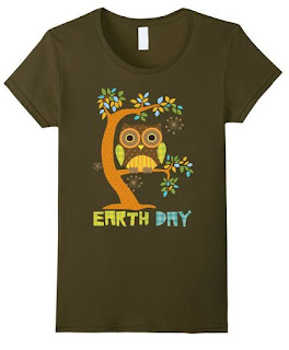 owl Earth Day t-shirt