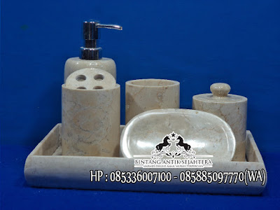 Tempat Sabun Marmer, Kerajinan Marmer Tulungagung, Tempat Shampo dan Sabun Cair
