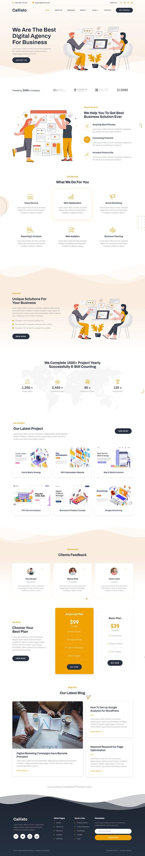 SEO and Digital Marketing Agency Elementor Template Kit